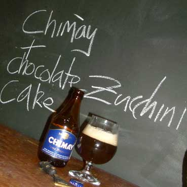 Chocolate & Zucchini cake and Chimay