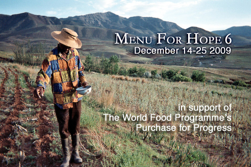 How you can help Menu for Hope and the UN World Food Programme